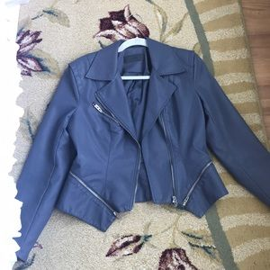 Bluish gray vinyl jacket
